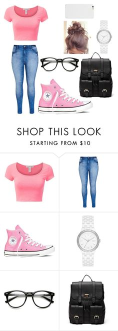 """""""sleep over"""" by melanie-martiniez96 ❤ liked on Polyvore featuring beauty, City Chic, Converse, DKNY and Sole Society"""