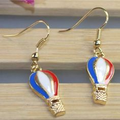 Hot Air Balloon Earrings New Size  Quantity 1PCS Conversion 1 inch=2.54 cm Jewelry Earrings
