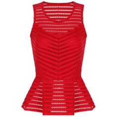 Yoins Red Perspective Vest In Mesh Fabric ($22) ❤ liked on Polyvore featuring outerwear, vests, tops, shirts, red, pattern vest, vest waistcoat, mesh vest, red vest and red waistcoat