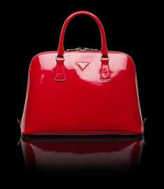 prada red purse with lock