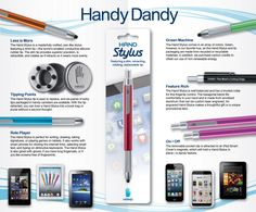 Hand Stylus for iPad, iPhone, Android and Kindle tablets
