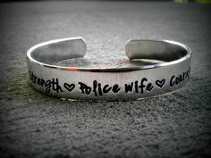 Police Wife - Police Girlfriend  Police Mom  Deputy Wife - Police Wife Jewelry - Police Officer - Police Jewelry - Hero Jewelry Personalized via Etsy