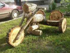 36 diy yard art crafts home decor garden ideas 18 Log Projects, Garden Projects, Projects To Try, Garden Ideas, Woodworking Plans, Woodworking Projects, Wood Log Crafts, Wood Logs, Log Furniture