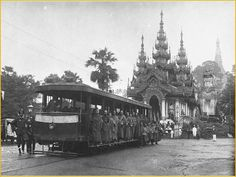 Rangoon  - The Shwedagon-Botataung Tram c. 1905.