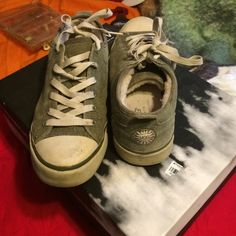 Ugg sneakers Olive colored ugg sneakers, used UGG Shoes Sneakers