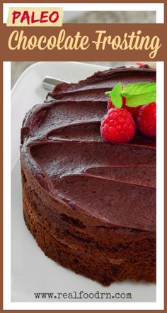 Easy Paleo Chocolate Frosting by Real Food RN. Paleo Sweets, Paleo Dessert, Gluten Free Desserts, Dessert Recipes, Paleo Frosting, Frosting Recipes, Paleo Chocolate, Chocolate Frosting, Chocolate Cake