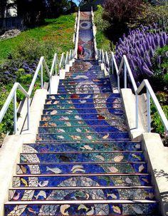 Stairway to Heaven 16th Avenue Steps to Grandview Park, San Francisco CA