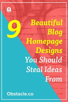 Ever wonder what makes a good homepage design for your blog? Take a look at 9 beautiful homepage designs that will fill you with ideas for…