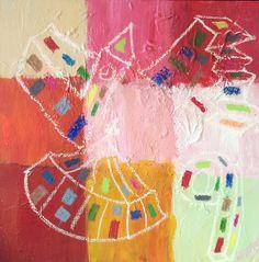 """""""Arkitekt VIIII""""  Copyright by  www.anne-mette.com  #copyright #painting #arkitektur #maleri #childish #barnlig #cirkus #trappe #stairs #cirque #maleri #pink #orange #happy #walldecor #vægdekoration #indretning #artgallery #kunst #danishart #danishartist #copenhagenart #copenhagenliving #arkitekt #indretningsarkitekt #email #kunst@anne-mette.com"""