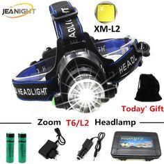 Led Headlamp Lantern XML L2 5000LM Head Lamp Flashlight Torch T6 Headlight Lanterna Headlamps Flashlights use 18650 Battery