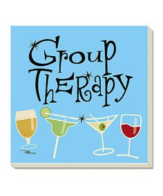 Look at this CounterArt Group Therapy Coaster - Set of Four on #zulily today!
