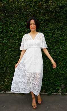 Vintage Revival of 1970s Maxi Dress, Lace Dress, Maxi Dress, Boho Dress, Peasant Dress, Lace Maxi Dress, 70s Style Dress, Retro Clothing by hisandhervintage on Etsy