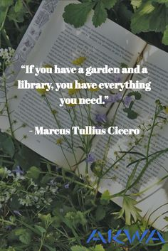 """""""If you have a garden and a library, you have everything you need. Health And Wellness Quotes, Library Books, Instagram Feed, Everything, Garden, Garten, Lawn And Garden, Gardens, Gardening"""