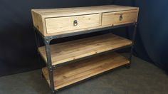 NEW FRENCH INDUSTRIAL BUFFET SIDEBOARD CUPBOARD HALL TABLE TV STAND(111-462)