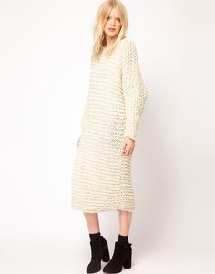 chunky knitted dress asos - Google Search