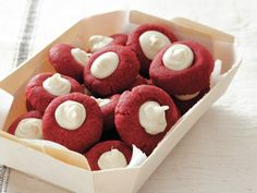 Red Velvet Thumbprints - DELISH!