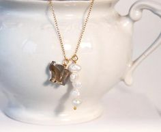 Fresh water  Pearl join a crystal elefant  by anypearljewelry