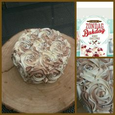 Chocolade rozen op chocolade taart. #zondagbakdag #kerstchallenge