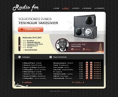 Radio Fm Website Templates by Matrix