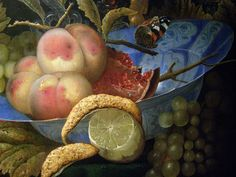 Ottmar Elliger the Elder, Still-life with Lobster, Fruit and a Nautilus Shell, 1667, detail 2