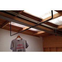 ランドリーポール/laundrypole Washroom, Basin, Laundry Room, Track Lighting, Ceiling Lights, How To Plan, Interior, House, Home Decor
