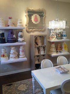 Lovely cake display for cake studio