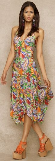 cute with jacket or cardigan  Blue Label Innes Silk Paisley Dress