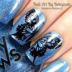 Nail Art By Belegwen: Foxy Paws Saturday Night