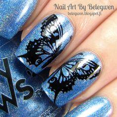Nail Art By Belegwen: Foxy Paws Saturday Night