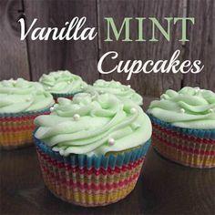 Vanilla Mint Cupcakes