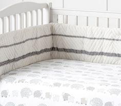 Organic Sleepy Sheep Crib Fitted Sheet, Gray only (farm animals)
