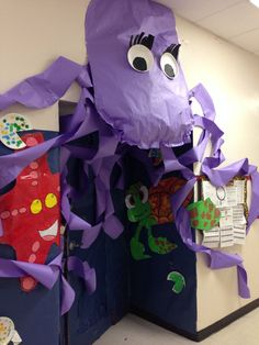 Door Decorations Classroom Book Under The Sea 48 Best Ideas Ocean Crafts, Vbs Crafts, Submerged Vbs, Spring Books, Vbs 2016, Under The Sea Theme, Ocean Themes, Art Plastique, Just In Case