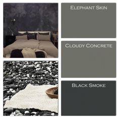 Plaster Paint, Lime Paint, Mineral Paint, Black Smoke, Colour Schemes, Elephant, Pure Products, The Originals