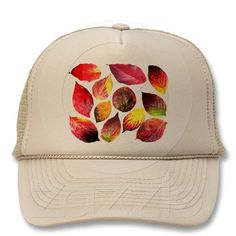 Autumn Colors Leaf Display Hats