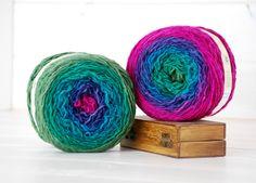 2 Hand Dyed Yarn Balls  100 Wool  2 Balls  Color by CraftyWoolFelt, $50.00