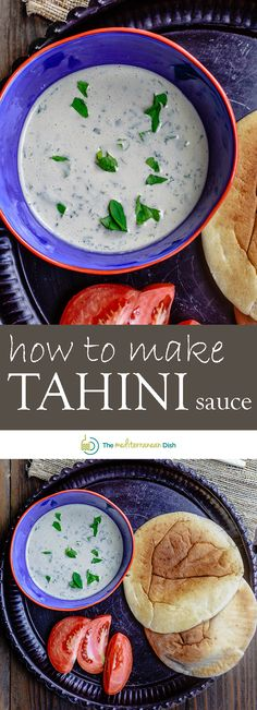 Authentic tahini sauce recipe with garlic, lime juice, and fresh parsley. Vegan and gluten free sauce or dip. Recipe comes with ideas for how to use tahini. Lebanese Recipes, Turkish Recipes, Greek Recipes, Vegan Recipes, Cooking Recipes, Recipes With Tahini, Healthy Cooking, Middle Eastern Dishes, Middle Eastern Recipes