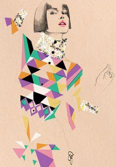 Gorgeous fahion illustration by Sandra Suy