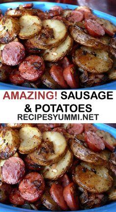 POTATOES Youll Need: 14 Ounces smoked sausage, sliced 2 Pounds russet potatoes, cleanedamp;sliced Medium onion, sliced or diced. Smoked Sausage Recipes, Pork Recipes, Cooking Recipes, Polish Sausage Recipes, Smoked Sausages, Sausage Meals, Sausage Recipes For Dinner, Recipies, Kilbasa Sausage Recipes