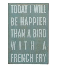 This one always makes me smile. :: 'French Fry' Box Sign