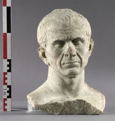 This portrait bust of Julius Caesar has been found at the bottom of the Rhone River at Arles, France. Archaeologists believe it was sculpted while he was still alive, perhaps two years before his assassination. Since it is clearly not an idealized portrait but a study from life, the bust shows what Caesar really looked like.