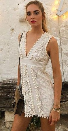#summer #boho #chic #style | Beaded Little Whiet Dress