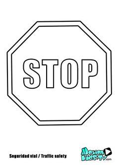 Descargables para colorear con los dibujos de las señales de trafico. Colorear con los niños para ayudarles a aprender las señales y mejorar sus conocimientos de seguridad víal.
