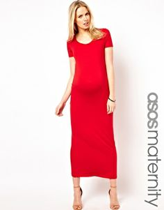 ASOS Maternity Maxi Dress With  T-Shirt Sleeve >> go bold or go home!