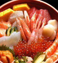 Sushi Seafood bowl 特盛海鮮丼 | http://fishforsushi.com