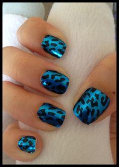 Blue Cheetah Print Foil