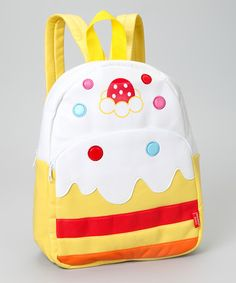 Take a look at this Yellow Ice Cream Backpack by COCO BANANA BAGS on #zulily today!