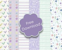 Free Trimcraft Printable Mother's day papers with Craft Tutorials