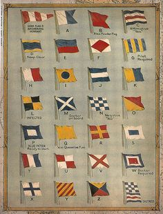 Vintage Nautical is one of my favorite ways to decorate for my little guy. Come learn how I created some painted nautical signal flags for a boys room. Nautical Flag Alphabet, Nautical Flags, Nautical Theme, Nautical Style, Nautical Bath, Nautical Signs, Nautical Prints, Nautical Compass, Nautical Pillows