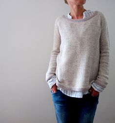 Knitting instruction Jih by Isabell Kraemer - DIY: Pullover - Sweater Knitting Patterns, Knit Patterns, Baby Knitting, Diy Pullover, Pullover Sweaters, Knit Sweaters, Pulls, Knitwear, Knit Crochet