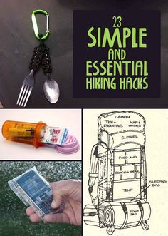 Some really good ideas and project ideas: 23 Simple And Essential Hiking Hacks - BuzzFeed Mobile